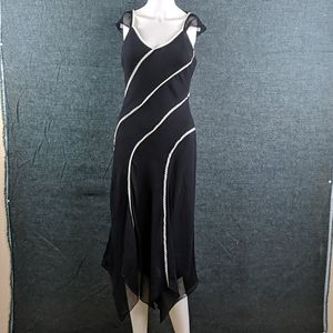 BCBGMaxAzria Silk Dress Handkerchief Hem